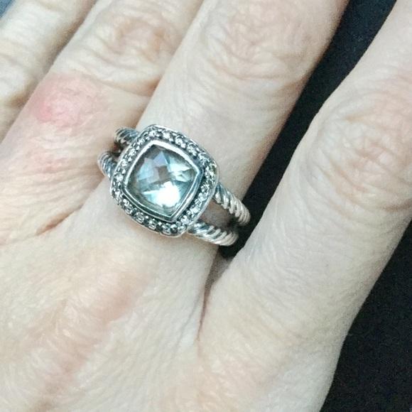 52bac67dae71f David Yurman Jewelry - David Yurman Petite Albion Prasiolite Ring- Size 6